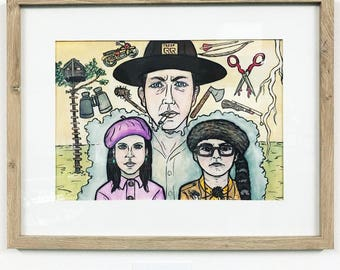 Nonviolent Rescue Operation, Wes Anderson/Moonrise Kingdom Fanart, Framed Piece, FREE SHIPPING