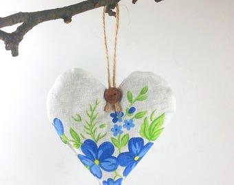 Lavender Hearts, Scented Sachets, Rustic Decorations for House, Herbal Sleep Pillow, Home Fragrance Sachet, Lavender Sachet,