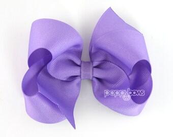 Girls Hair Bows, Purple hair bow, 4 inch hair bows, big hair bows, boutique bows, large hair bows, girl hair bows, toddler non slip hairbow