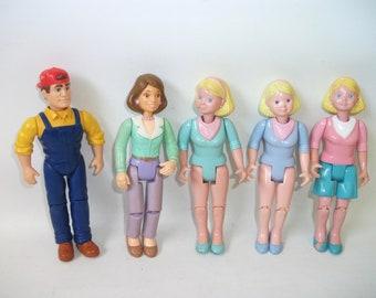 Vintage Loving Family Dolls Toy figures