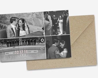 Wedding Thank You Cards: Photo Montage