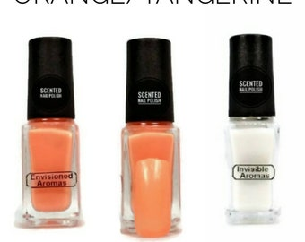 Two if by Scent Collection Orange/Tangerine Scented Nail Polish