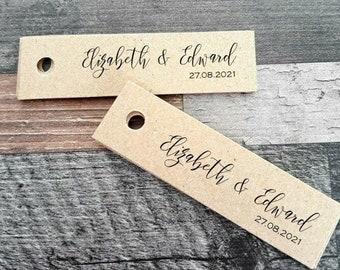 Kraft Favour Tags - Wedding  Favor Tags - handmade favour tags - Wedding favour tags - Custom listing