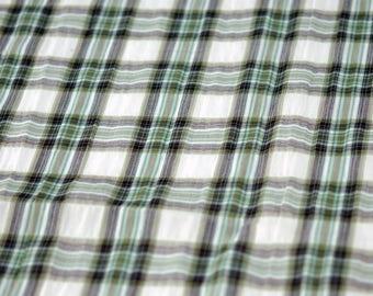 surseeker woven Plaid cotton fabric