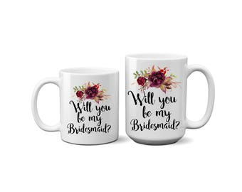 Bridesmaid, Proposal, Ask Gift, Coffee Mug, Gift Ideas, Keepsake, Mug, Gift, Question, Thank You Gift, Unique Gift, For Her, Best Friend