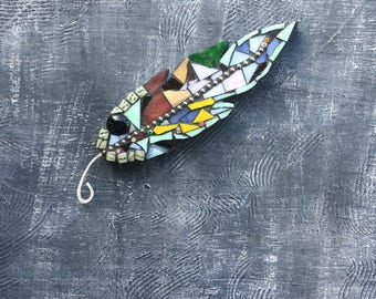 Lucky feather, mosaic feather
