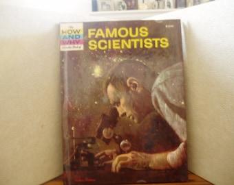 Wonder Book 1964 Famous Scientists