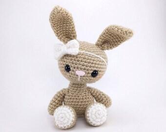 PATTERN: Bryce the Bunny - Crochet bunny pattern - amigurumi rabbit - crocheted bunny pattern - woodland animal - PDF crochet pattern