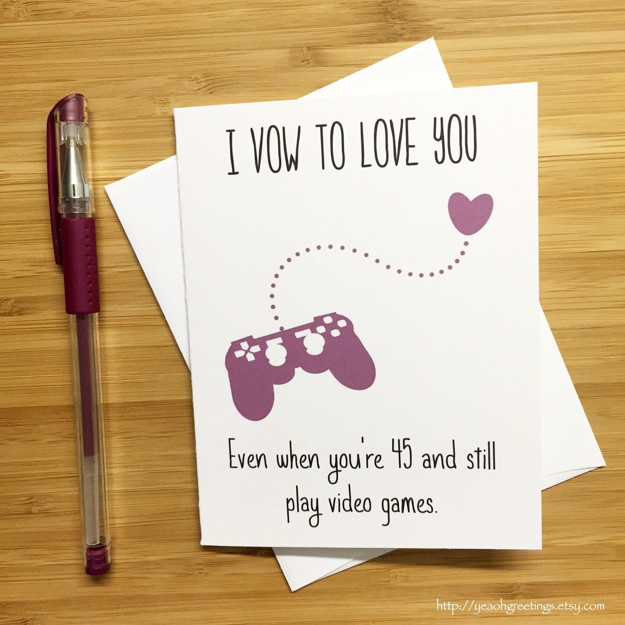Cute Love Card For Video Game Lovers Happy Anniversary Card