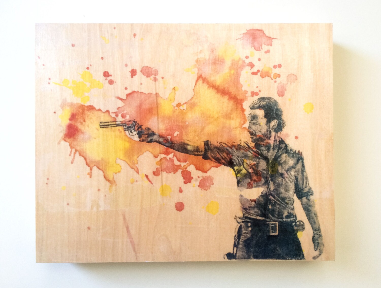 The Walking Dead Rick Grimes Art Print from Original Splatter