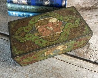 Eastern Handpainted Wood Box, Colorful Delightful Artisan Design