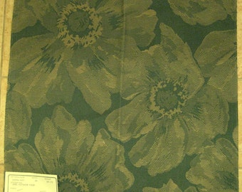 Green Flowers Duralee Outdoor Upholstery Designer Fabric Sample 14246