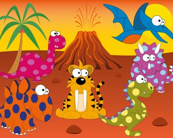 Dinosaurs Clipart: dinosaurs svg, t rex, t rex svg, clip art, triceratops, triceratops svg, brontosaurus, stegosaurus, pterodactyl decal