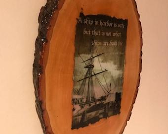 Bass Wood Inspirational Plaque