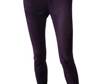 GEORGES Rech Vintage Cotton Blend Skinny Trousers (T 39)