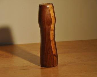 Locust and Walnut Bud Vase