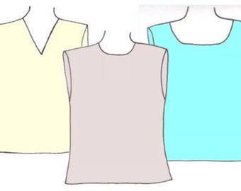 Plus Size Boys Tank Tops PDF Sewing Pattern, sizes 8-10-12