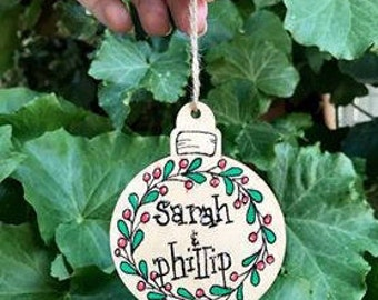 Custom Name Christmas Tree Decoration
