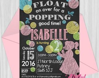 Printable Bubble Party Invitation