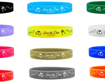 100 Silicone Wristbands Wedding Save The Date