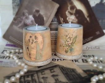 Vintage candleholders.