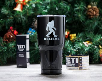 Bigfoot I Believe engraved yeti cup custom Sasquatch yeti mug Sasquatch  ideas gift for him cool gift custom gift birthday  gift