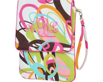 Monogrammed Padded I-Pad Case - Tutti Frutti