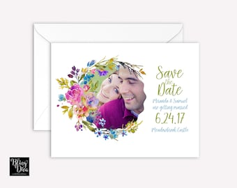 Summer Breeze Save the Date Custom Print