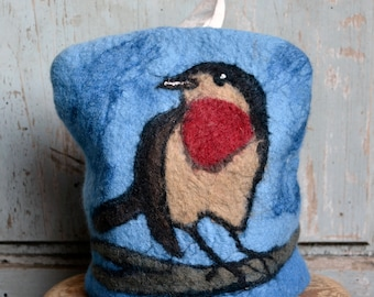 Tissue Box Cover, Bird lovers, Felted box cover, tissue box, Tissue cover, felted cover, Kleenex Cover, Tissue box holder, Tissue holder