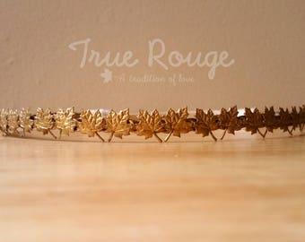 Boho gold headpiece, leaves crown, boho leaf crown, gold crown, maple headband, Gold Canadian Crown, maple leaf crown, Canada Day