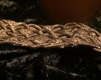 "Bullion Metallic Victorian Headwrap or Dress Decoration with tassels 15"" (FFs1185)"