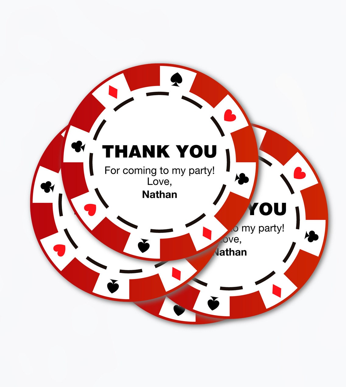 poker party chips / printable pdf / thank you tags favor casino ...