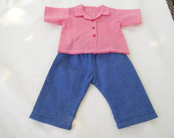 15 inch doll Jeans and Blouse