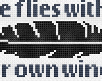 She Flies With Her Own Wings - Counted Cross Stitch Chart