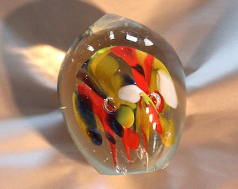 Multicolor egg paperweight