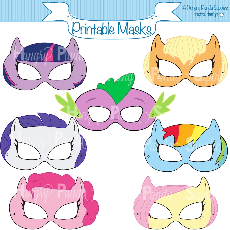 Pony Printable Masks Mask Horse Girls Costume