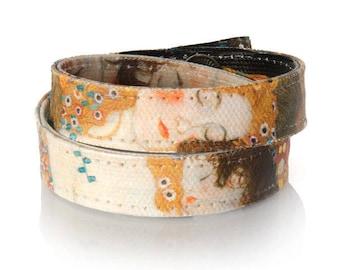 Gustav Klimt Art Bracelet, Womens Bracelet, Wrap Bracelet (Mother and Child detail) 'The Three Ages of Woman', Collar Choker Necklace