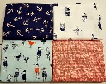 Fabric bundle of Dear Stella Dark & Stormy - 4 different fabrics