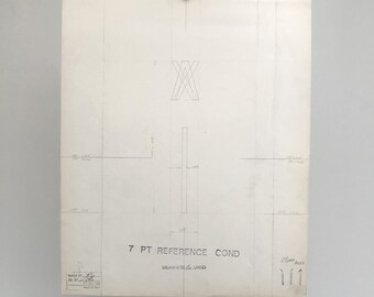 Letter lowercase I with accents, 1967 original font casting drawing, typographic drawing. Gift for a graphic designer or typographer.