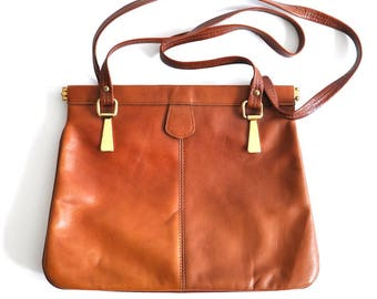 Vintage Faux Leather Shoulder Bag