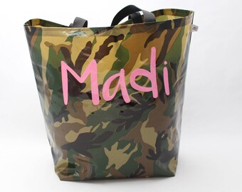 Personalized Market Bag - Custom Oilcloth Pool Bag