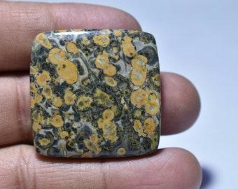 Leopard Skin Jasper Cabochon....36x5 mm...65 cts...##422