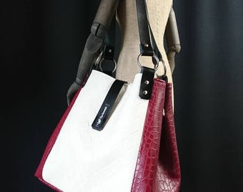 Summer feeling: chic bag in red and beige
