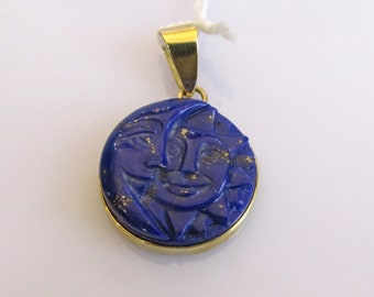 Lazuli and Gold Pendant