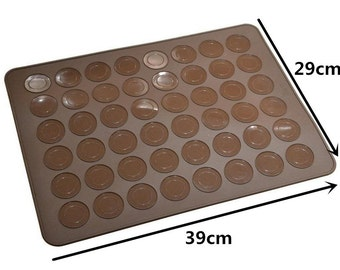 High Quality Macaron Silicone mat  - 48 Capacity