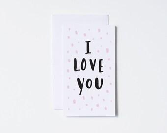 I Love You Card- Mini Card