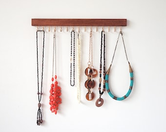 Necklace holder - Jewellery holder Necklace organiser Necklace hanger Wall mount necklace holder Necklace display Necklace holder wall