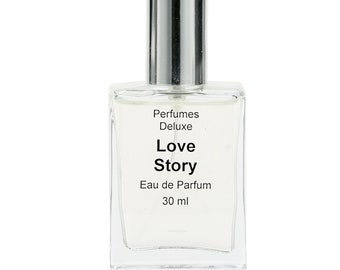 Love Story Perfume (Designer-type) from Perfumes Deluxe, 3 ml, 10 ml, 30 ml.