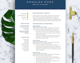 Modern Resume Template Word 1-3 Page Resume CV Template