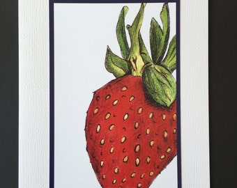 Large Strawberry Greeting Card